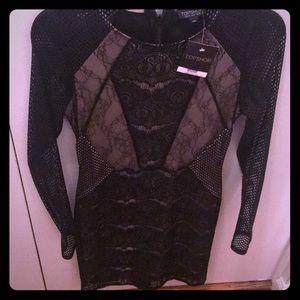 Never worn topshop black lace dress